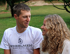 Ryder Hesjedal of Canada shares a quiet moment with his wife, Ashley, a graduate of McCluer High in St. Louis, at her parents' bed and breakfast in Augusta, MO.