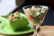 Avocado and turkey cocktail