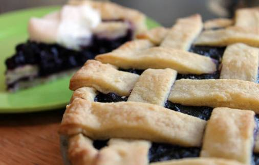 The vodka in the pie crust makes it super flakey.